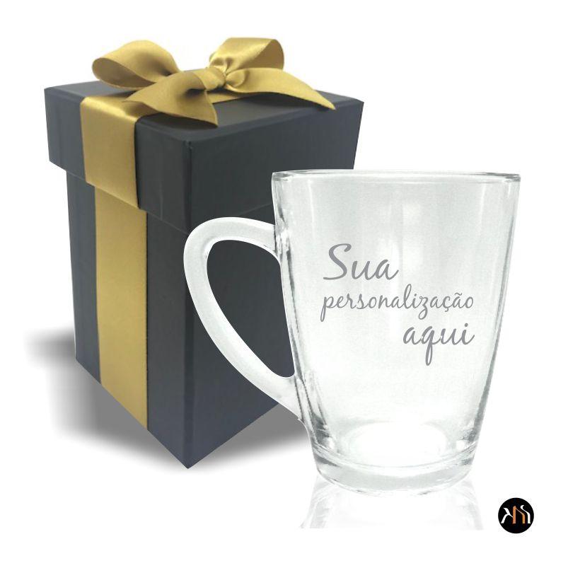 Xícara de vidro 300ml para chá ou café