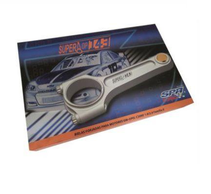 Biela Forjada Super A 143mm para motor GM Chevrolet família 2 / 1.8 / 2.0 8V e 16V - Jogo com 4 unidades