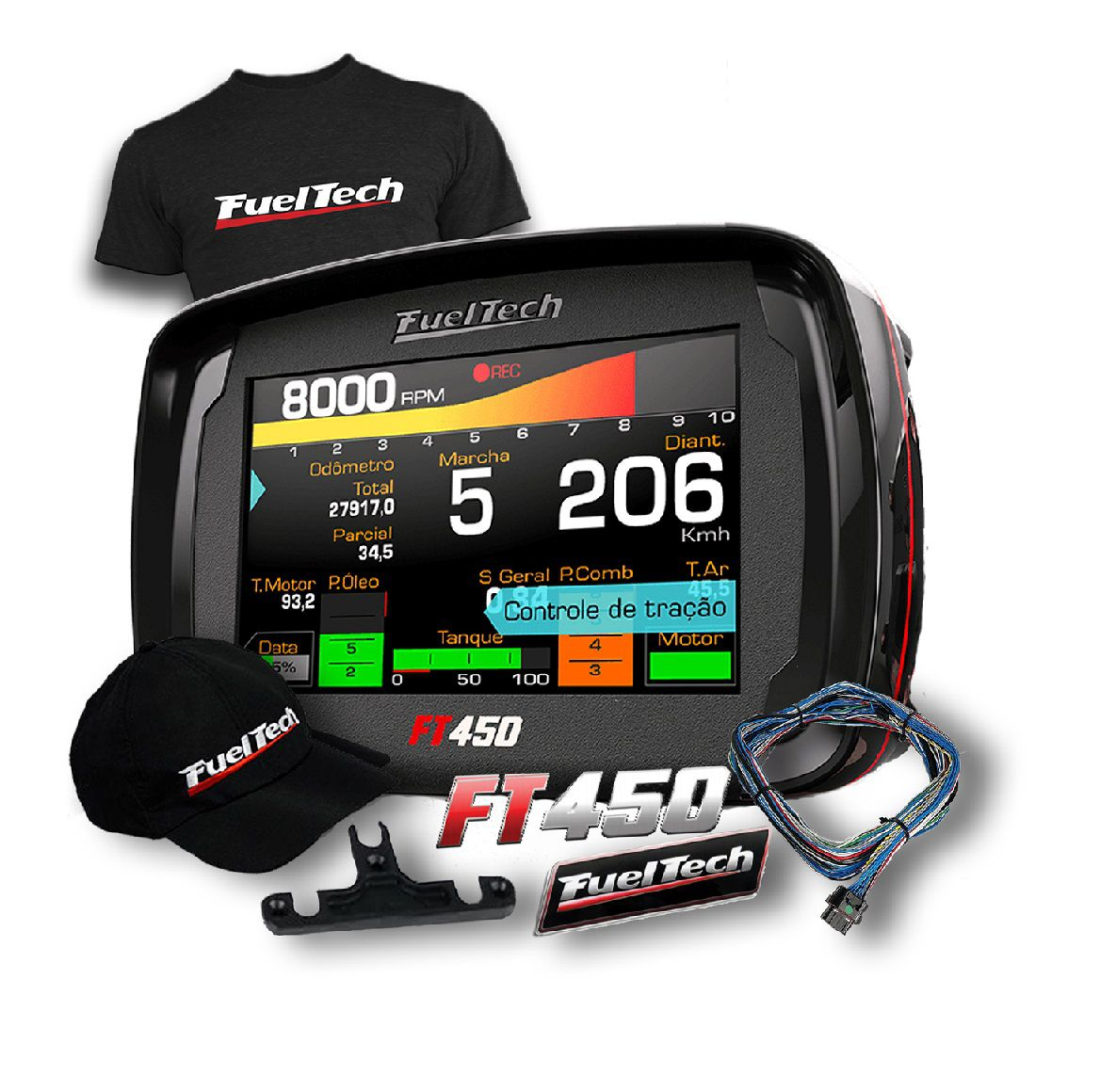 Fueltech FT 450 +ultra Brindes+ 12x S/juros PRONTA ENTREGA