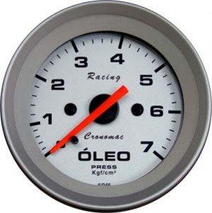 Manometro Pressão de Óleo Cronomac Linha Racing