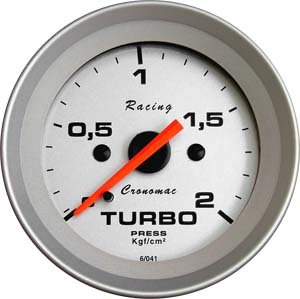 Relogio pressao Manometro Turbo Cronomac Linha Racing