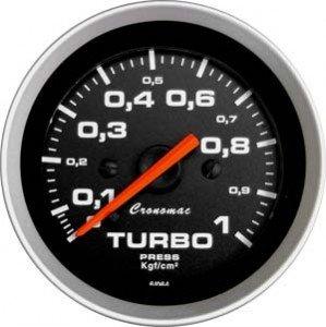 Relogio pressao Manometro Turbo Cronomac Linha Sport
