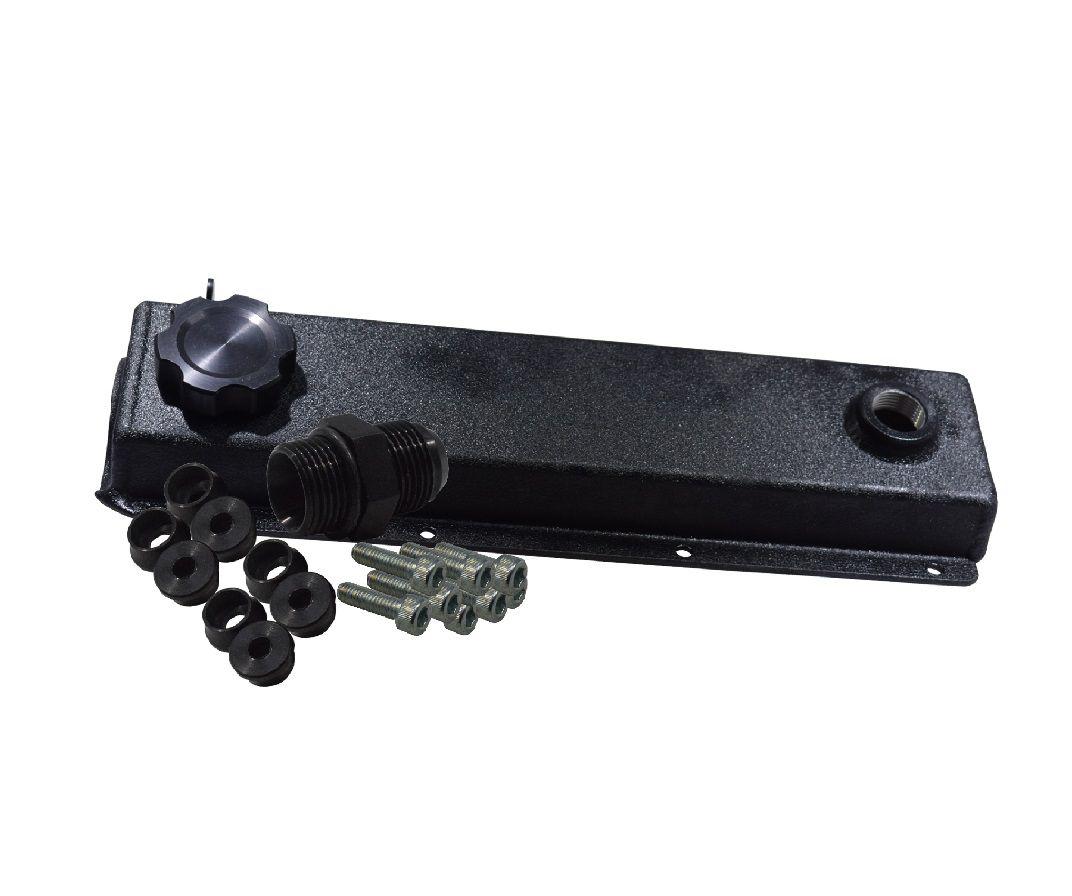 Tampa de valvula em aluminio texturizado preto