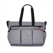 BOLSA MATERNIDADE - DIAPER BAG - DUO DOUBLE SIGNATURE HEATHER GREY SKIP HOP