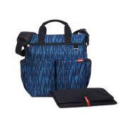 BOLSA MATERNIDADE - DIAPER BAG - DUO SIGNATURE BLUE GRAFFITI SKIP HOP