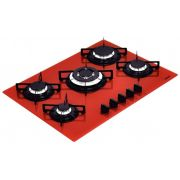 Cooktop Glass Penta R 5gg Tri 70 Vermelho Tramontina 94708281