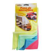 Pano de Microfibra para limpeza a seco Kit c/ 4 cores 30 x 30 cm