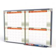 Quadro Branco 100x70 Planejamento Quadrimestral Moldura Aluminio R-8981
