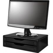 Suporte para Monitor de Mesa em MDF Black Piano com 2 Gavetas Black Piano