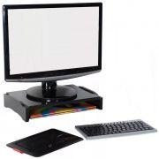 Suporte Para Monitor Modular Simples em MDF Preto R-8553