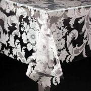 Toalha de mesa plástica  1,38X1,38 - Diamante Est. Dona Branco