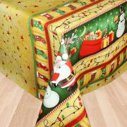 Toalha de mesa plástica Térmica 1,38 X 1,38 m Estampa Luzes de Natal
