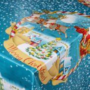 Toalha de mesa plástica Térmica 1,38 X 1,38 m Estampa Vila de Natal