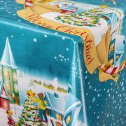 Toalha de mesa plástica Térmica 1,38 X 2,20 m Estampa Vila de Natal