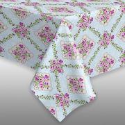 Toalha de mesa plástica Térmica 1,38X1,38 - Estampa Margot
