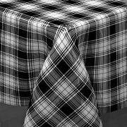 Toalha de mesa plástica Térmica 1,38X3,00 - Estampa Xadrez Preto