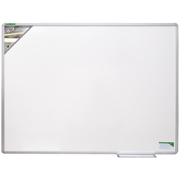 Quadro Branco Luxo 150x120 cm Melamínico Fórmica com Moldura de Alumínio Luxo - Souza