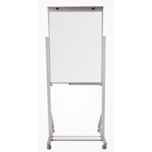 Porta Bloco Cavalete Flip Chart 100x70cm Alumínio com Rodízio e Suporte Para Canetas Altura Ajustável - 2512 Souza