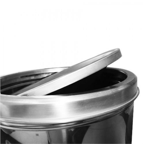 Lixeira Basculante Inox 50L - Ø30 X 71CM