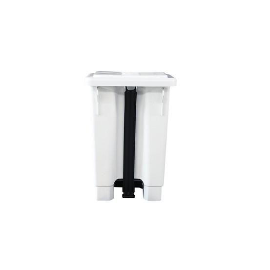 Lixeira com Pedal 50L Branca com Suporte para Saco de Lixo