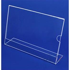 Display de Mesa A4 Horizontal Acrílico com Apoio 300x220mm