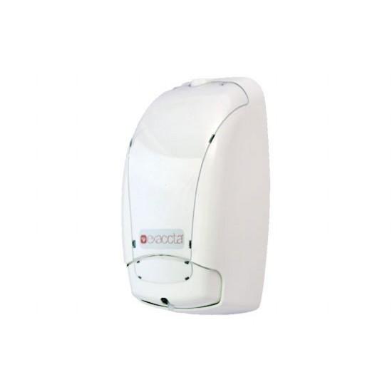 Dispensador Sabonete Espuma Refil Branco c/ Sobretampa Transparente - Exaccta