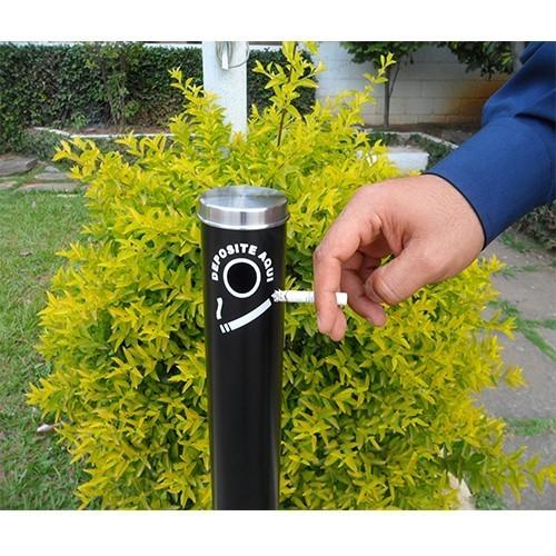 Coletor de Cigarros / Bituqueira 3,5L Fitt Preto