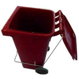 Lixeira Carrinho Coletor de Lixo 120 Litros COM PEDAL - AZUL