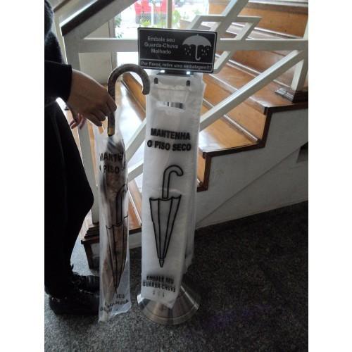 Embalador de Guarda-Chuva em Inox p/ Piso Clean