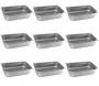 Conj 9 Cuba Gastronômica Inox GN 1/1x100 mm 14 L com alça
