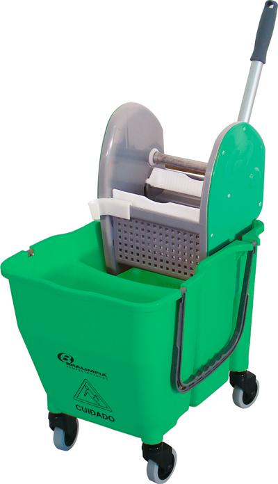 Balde Espremedor para MOP Úmido Doblô 30 Litros Verde NY110 Bralimpia