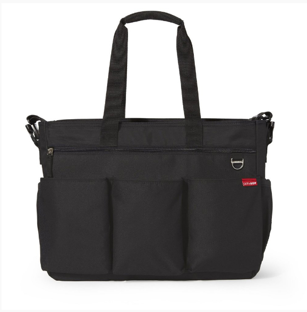 BOLSA MATERNIDADE - DIAPER BAG - DUO DOUBLE SIGNATURE BLACK SKIP HOP