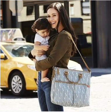 BOLSA MATERNIDADE - DIAPER BAG - DUO LIMITED EDITION - BLUE PRINT STRIPE SKIP HOP