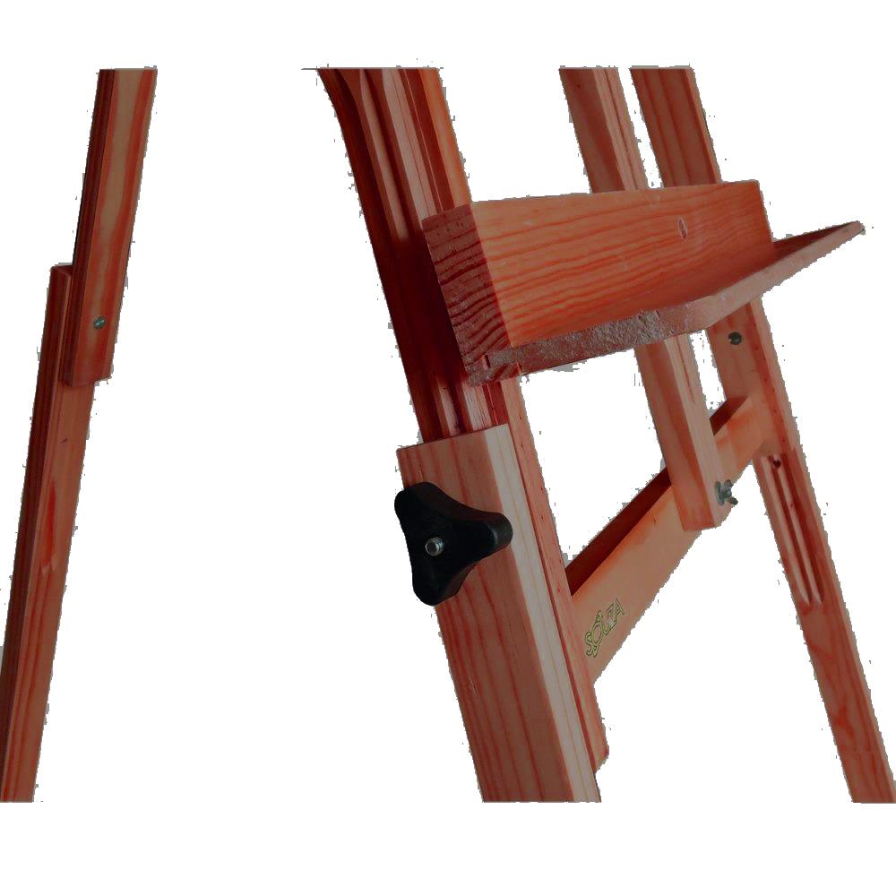 Cavalete de Pintura 4116 Compacto Dobrável Madeira Pinus Cor Mogno Souza