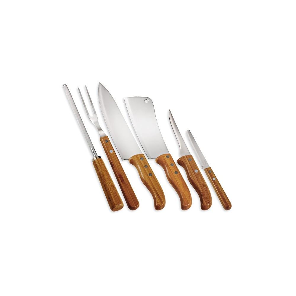 Kit - Conjunto de facas com estojo Frankfurt - 7 peças - PB-00213