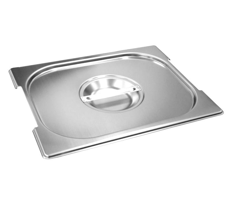 Cuba Gastronômica Inox GN 1/2x150 mm 9,5 L com alça COM TAMPA COM RECORTE