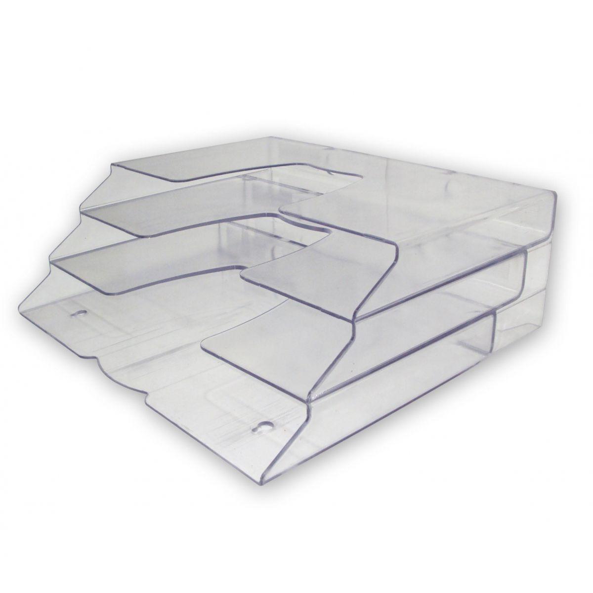 Display Organizador Triplo Mesa ou Parede Cristal 7300