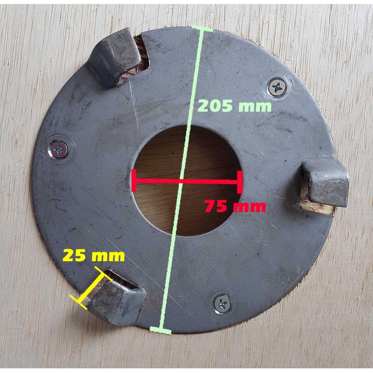 Escova de Pelo COM flange 410 mm para enceradeira Cleaner