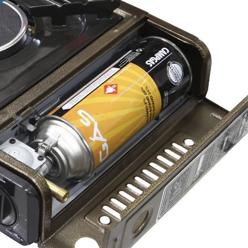 Gás Kit com 4 Refil Campgas 227g Fogareiro Isqueiro Nautika