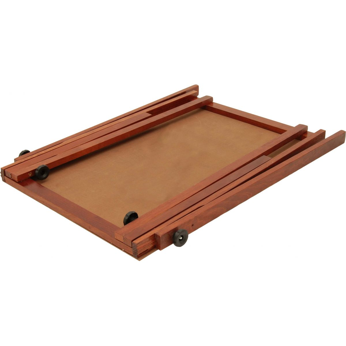 Cavalete Flip Chart Porta Bloco Compacto Quadro Branco Estrutura Cor Mogno c/ Suporte Para Canetas 2515 Souza