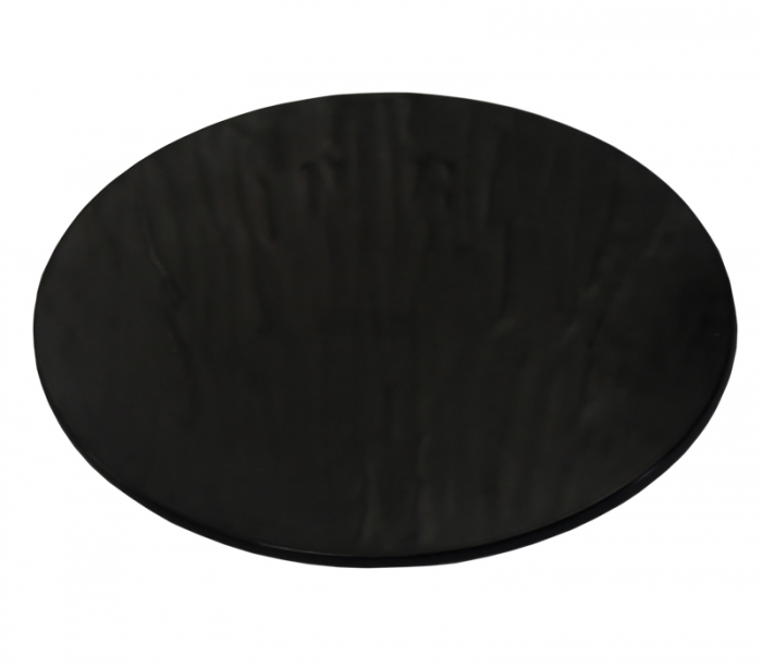 Tábua Redonda Ondulada Melamina Preta 32 cm