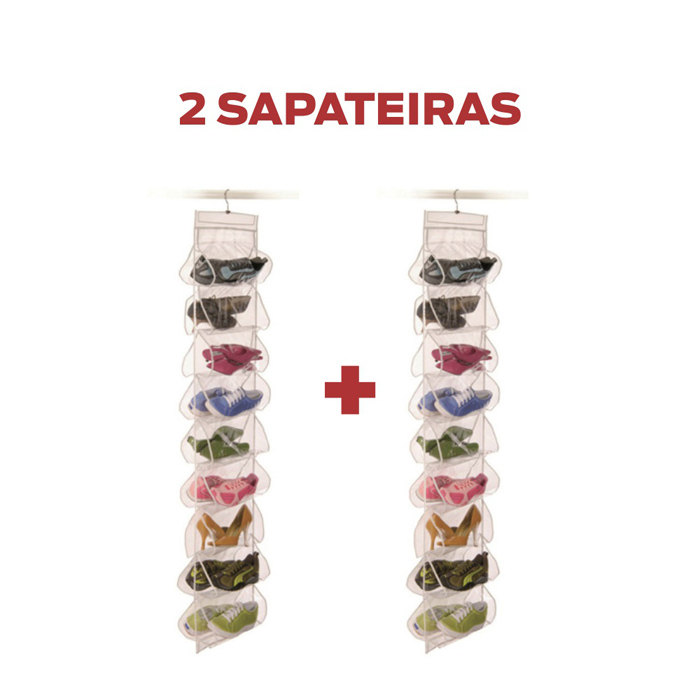 Sapateira Vertical para 9 pares - kit 2 unidades