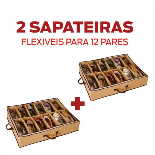 Sapateira Flexível 12 Pares - KIT 2 UNID.