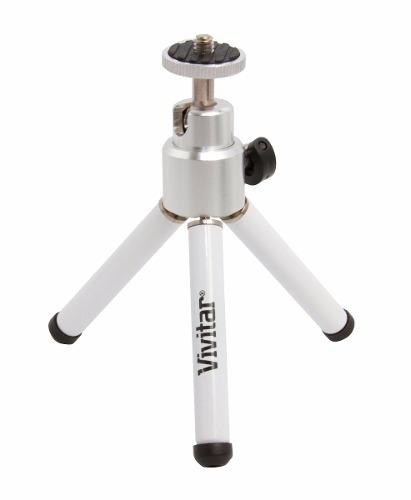 Tripé Vivitar 15cm, Cabeça Com Rotação 360° Para Câmera - VIVMPT100W
