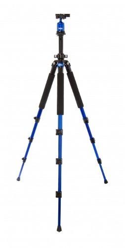 Tripé Para Câmera Profissional Com Extensão Até 1,57m Azul - Vivmpt600