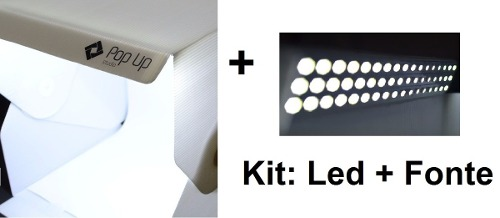 Mini Studio Fotografico Luz Led Tenda + Kit De Led Extra
