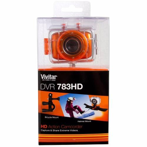 Câmera Filmadora De Ação Vivitar HD Com Caixa Estanque E Acessórios - DVR783HD