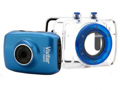 Câmera Filmadora De Ação Vivitar HD Com Caixa Estanque E Acessórios - DVR785HD