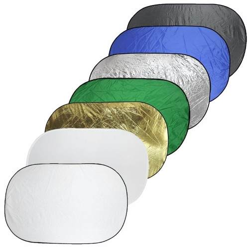 Rebatedor Oval Fotográfico Difusor 1,12x1,80 Dobrável - 7 Em 1 - REFLEX REB112