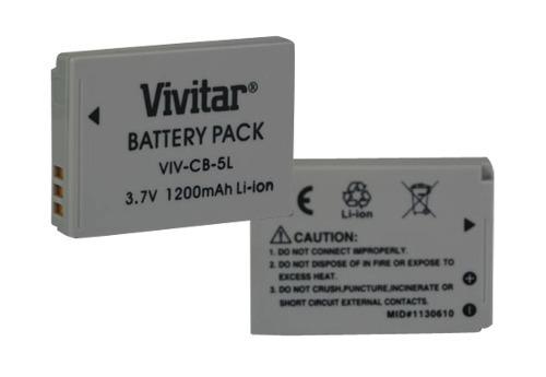 Bateria Recarregável Vivitar Equivalente A Canon Modelo Nb5l - Vivcb5l